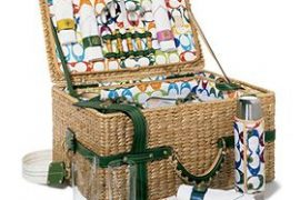 Coach Straw Picnic Basket