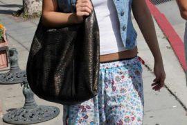Ashlee Simpson carries Devi Kroell