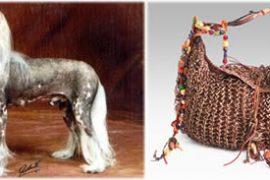Carlos Falchi Cashmere Crochet Hobo