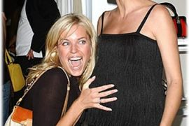 Pregnant Klum and Silly Romijn