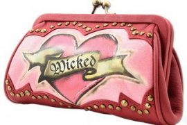 Isabella Fiore Wicked Heart Coin Clutch