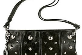Roccobarocco Piccadilly Studded Leather Baguette  & Zoppini Zo-Dark Corset Cuff Bracelet