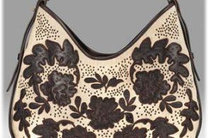 Yves Saint Laurent Embroidered Linen Hobo