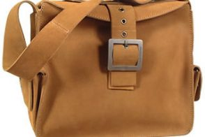 Dolce & Gabbana Camel Suede Buckle Tote Bag
