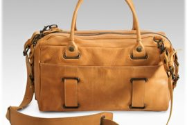 Theory Park Roll Leather Bag
