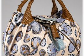 Fendi Coated Crepe Satin Spy Bag