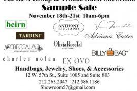 NY Showroom Sample Sale feat Adriana Castro