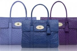Mulberry Ostrich Bayswaters