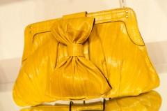Be & D Clara Portfolio in Yellow Eeel/Gold - $1,290