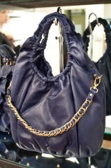 Be & D Cosette Hobo in Navy/Gold - $895
