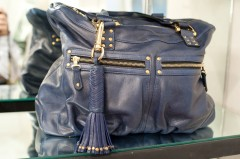 Be & D Gibson Tote in Navy/Gold - $1,095