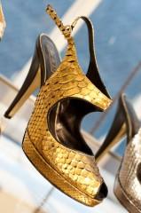 Be & D Merritt Slingback in Gold Python - $780