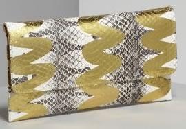 Carlos Falchi Tiger Snake Flat Clutch