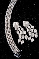 Diamond ear rings and bracelet by Future Fashionista