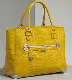 Rafe Shiny Croc Ali East/West Tote