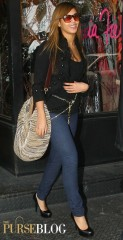 Beyonce with her DvF Stephanie Bag