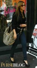 Beyonce with her Diane von Furstenberg Stephanie Bag