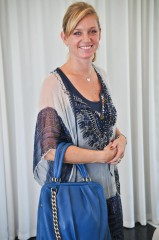 Jalda carrying Blue Goat Aida Tote