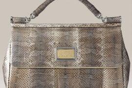 Dolce & Gabbana Miss Sicily Snakeskin Handbag