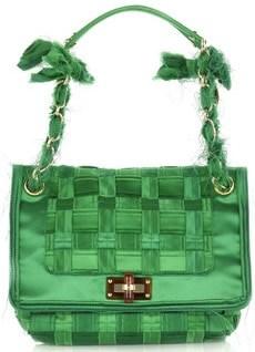 Lanvin Happy Square Silk Bag