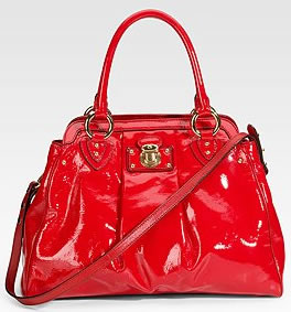Marc Jacobs Alyona Patent Leather Satchel