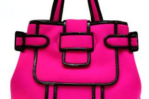 Pierre Hardy Neoprene and Patent Tote