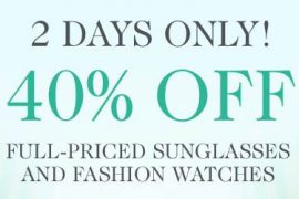 Eluxury: 40% Off Select Sunglasses and Watches
