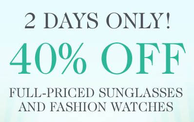 40% off Sunglasses and Watches at Eluxury