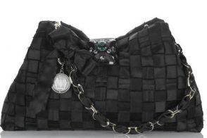 Lanvin Calisson Woven Satin Bag