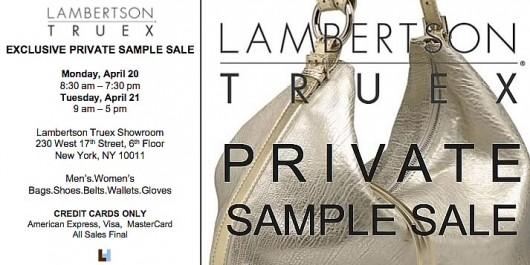 Lambertson Truex Sample Sale