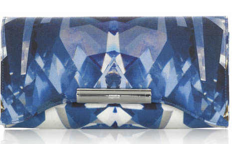 Alexander McQueen Crystal-Print Clutch