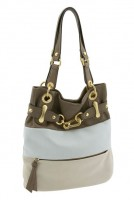 B. Makowsky Belted Multicolor Tote