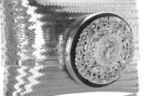 Celestina Woven Silver Filigree Clutch