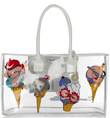 Mulberry Ice Cream Clear Tote