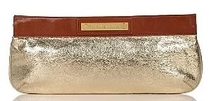 Tory Burch Vintage Metallic Aldwin Clutch