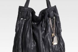 Donna Karan Pleated North-South Tote