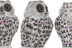 Judith Leiber Owl Crystal Embellished Clutch