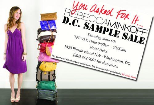 Rebecca Minkoff DC Sample Sale