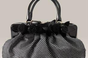 Valentino Houndstooth Fleur Bag