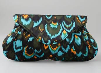 Lauren Merkin Silk Feathers Lotte Clutch