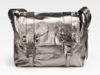 Stephanie Verdino Mini Leather Messenger Bag