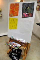 The artist's easel