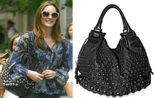 Leighton Meester Bally Studded Top Handle