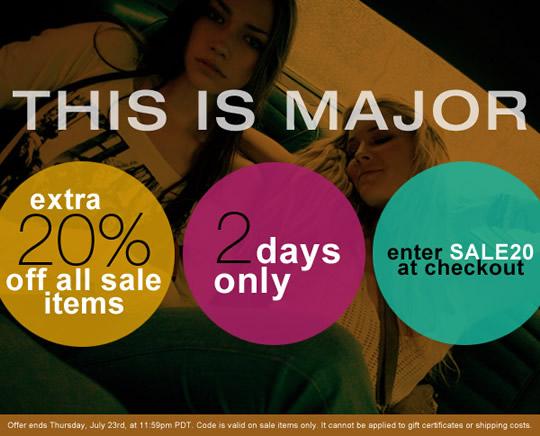 ShopBop 20 Off Sale
