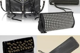 Studs Add a Rocker Glam Edge to Clutch Handbags