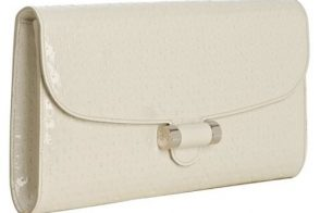 Yves Saint Laurent Embossed Patent Muse Clutch