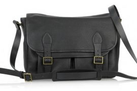 A.P.C. Black Leather Satchel