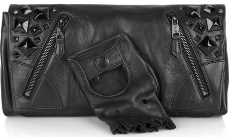 Alexander McQueen Faithful Glove Studded Clutch
