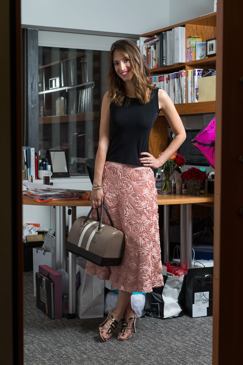 Furla Candy Bag $298 via Bloomingdales, Anthropologie Skirt, Alessandra Shoes, Cartier Bracelet, YSL Rouge Pur Couture #208 Lipstick Similar via Nordstrom