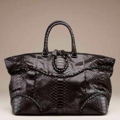 BV Nero Waxed Python Shopper - $4,650